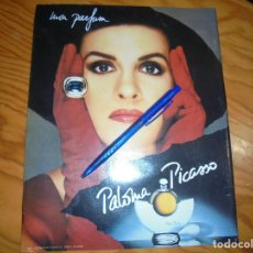 Coleccionismo de Revista Blanco y Negro: RECORTE : PALOMA PICASSO, PUBLICIDAD MON PERFUM. BLANC Y NEGR, DCMBRE 1988 (). Lote 182779977