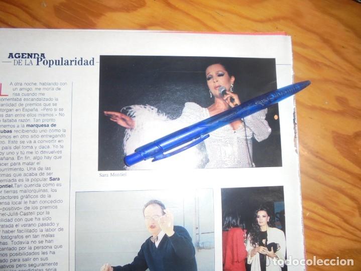 RECORTE : SARA MONTIEL, PREMIADA EN MALLORCA . BLANC Y NEGR, DCMBRE 1988 () (Coleccionismo - Revistas y Periódicos Modernos (a partir de 1.940) - Blanco y Negro)