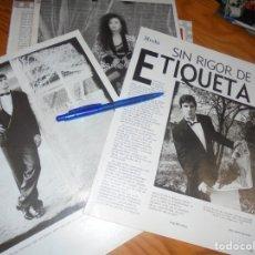 Colecionismo de Revistas Preto e Branco: RECORTE : MODA : SIN RIGOR DE ETIQUETA. ALASKA, MICHEL, JOSELITO... . BLANC Y NEGR, DCMBRE 1988 (). Lote 182781113