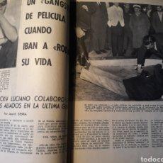 Coleccionismo de Revista Blanco y Negro: HA MUERTO LUCKY LUCIANO CUANDO IBAN A RODAR SU VIDA - 4 PAGINAS -. Lote 183076740