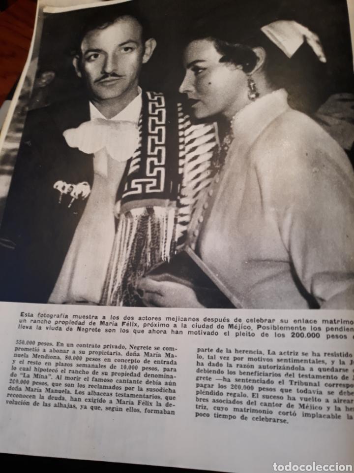 Coleccionismo de Revista Blanco y Negro: LAS ALHAJAS QUE JORGE NEGRETE REGALO A MARIA FELIX - AÑO 1957 - 3 PAGINAS - Foto 2 - 183083900