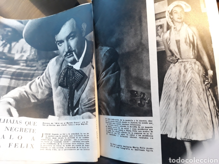 LAS ALHAJAS QUE JORGE NEGRETE REGALO A MARIA FELIX - AÑO 1957 - 3 PAGINAS (Coleccionismo - Revistas y Periódicos Modernos (a partir de 1.940) - Blanco y Negro)