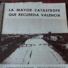 Coleccionismo de Revista Blanco y Negro: REPORTAJE DE LA CATASTROFE DE VALENCIA DEL DESBORDAMIENTO DEL TURIA - AÑO 1957 - 15 PAGINAS. Lote 183090561
