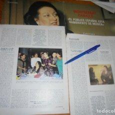 Coleccionismo de Revista Blanco y Negro: RECORTE : ENTREVISTA MONTSERRAT CABALLÉ. SARA MONTIEL . BLANC Y NEGR, 29 MAYO 1988 (). Lote 183270722