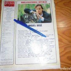 Coleccionismo de Revista Blanco y Negro: RECORTE : MIGUEL BOSE : DECLARACIONES INTIMAS. BLANC Y NEGR, 13 MARZO 1988 (). Lote 183374400