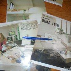 Coleccionismo de Revista Blanco y Negro: RECORTE : EN CASA DE OUKA LELE, FOTOGRAFA DE LA MOVIDA . BLANC Y NEGR, 20 MARZO 1988 (). Lote 183499918