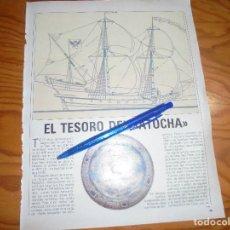 Coleccionismo de Revista Blanco y Negro: RECORTE : EL TESORO DEL ATOCHA. BLANC Y NEGR, 8 MAYO 1988 (). Lote 183587687
