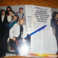 Coleccionismo de Revista Blanco y Negro: RECORTE : ENTREVISTA AL GRUPO : LA DECADA PRODIGIOSA. BLANC Y NEGR, 3 ABRIL 1988 (). Lote 183588496