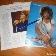Coleccionismo de Revista Blanco y Negro: RECORTE : ENTREVISTA : TINA TURNER. BLANC Y NEGR, 24 JULIO 1988 (). Lote 183588866