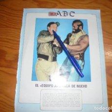 Coleccionismo de Revista Blanco y Negro: RECORTE : EL EQUIPO A, ATACA DE NUEVO. BLANC Y NEGR, 24 JULIO 1988 (). Lote 183588935