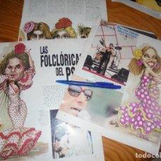 Coleccionismo de Revista Blanco y Negro: RECORTE : LAS FOLKLORICAS DEL PSOE : MIGUEL RIOS, MASSIEL, SERRAT.... BLANC Y NEGR, 17 JULIO 1988 (). Lote 183775785