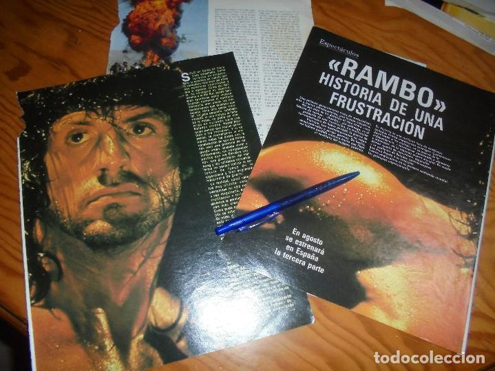 RECORTE : RAMBO, HISTORIA DE UNA FRUSTRACION. BLANC Y NEGR, 17 JULIO 1988 () (Coleccionismo - Revistas y Periódicos Modernos (a partir de 1.940) - Blanco y Negro)