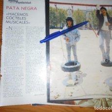 Coleccionismo de Revista Blanco y Negro: RECORTE : ENTREVISTA : PATA NEGRA. BLANC Y NEGR, 12 JUNIO 1988 (). Lote 184208860