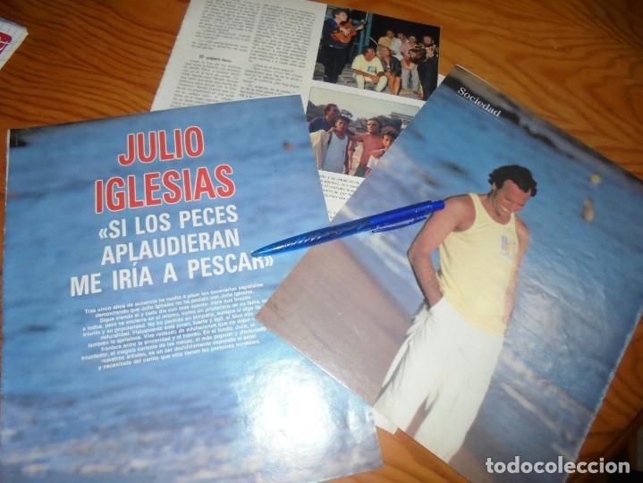 RECORTE : JULIO IGLESIAS . LA TUNA. BLANC NEGR. 4 SEPTMBRE 1988 () (Coleccionismo - Revistas y Periódicos Modernos (a partir de 1.940) - Blanco y Negro)
