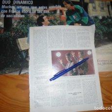 Coleccionismo de Revista Blanco y Negro: RECORTE : ANA DIOSDADO ENTREVISTA AL DUO DINAMICO. BLANC Y NEGR 3 JULIO 1988 (). Lote 184210320