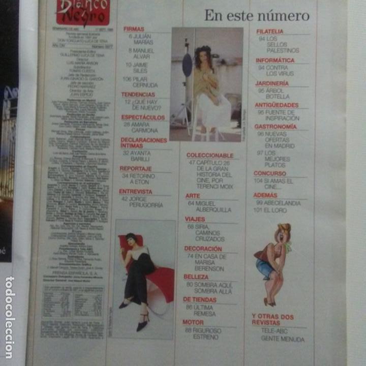 Coleccionismo de Revista Blanco y Negro: BLANCO Y NEGRO.NUM. 3977 17-9-1995. AMARA CARMONA. MIGUEL ALBERQUILLA, VER SUMARIO - Foto 2 - 186241418