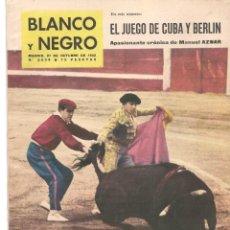 Coleccionismo de Revista Blanco y Negro: REVISTA: BLANCO Y NEGRO. Nº 2634. SALÓN DEL AUTOMOVIL PARIS. COUSTEAU. 27 OCT.1962.(P/DS3). Lote 190980062