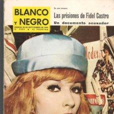 Coleccionismo de Revista Blanco y Negro: REVISTA: BLANCO Y NEGRO. Nº 2682. DANY SAVAL / VALENTÍN DE ZUBIAURRE. 28/9/1963. (P/DS3)). Lote 190982022