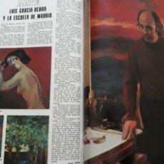 Coleccionismo de Revista Blanco y Negro: LUIS GARCIA OCHOA Y LA ESCUELA DE MADRID . ENTREVISTA .DOS PAGINAS. AÑO1976. Lote 194133825