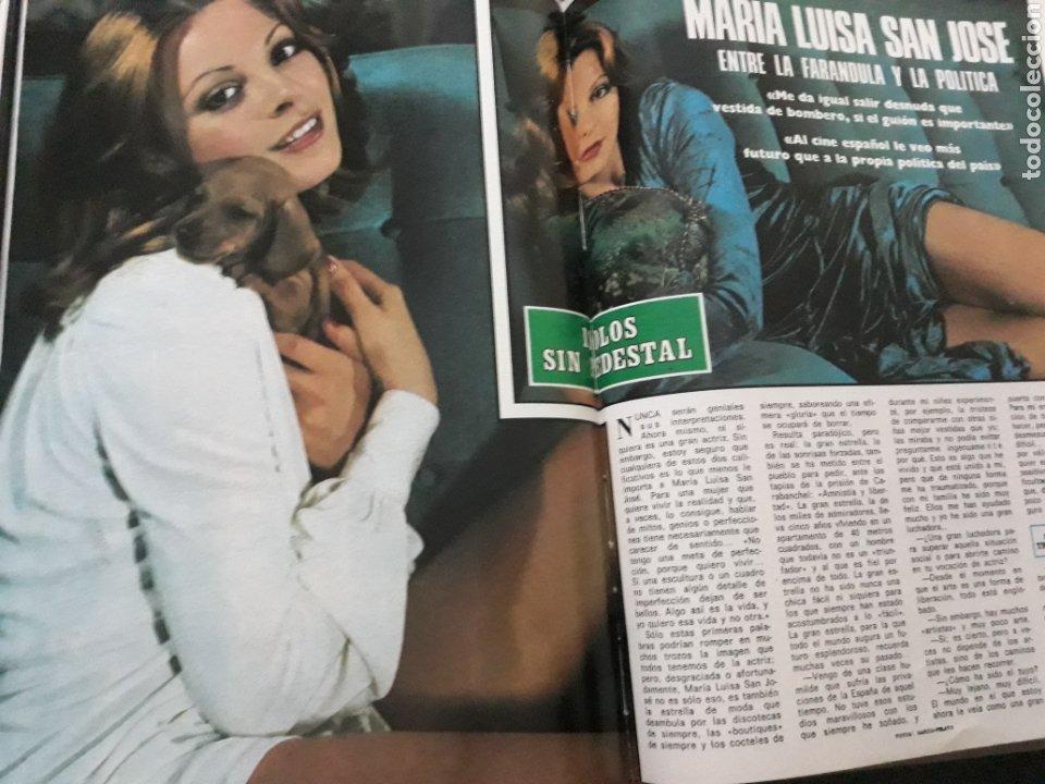 ENTREVISTA A MARIA LUISA SAN JOSÉ. 4 PAGINAS AÑO 1976 (Coleccionismo - Revistas y Periódicos Modernos (a partir de 1.940) - Blanco y Negro)