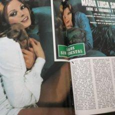 Coleccionismo de Revista Blanco y Negro: ENTREVISTA A MARIA LUISA SAN JOSÉ. 4 PAGINAS AÑO 1976. Lote 194134133