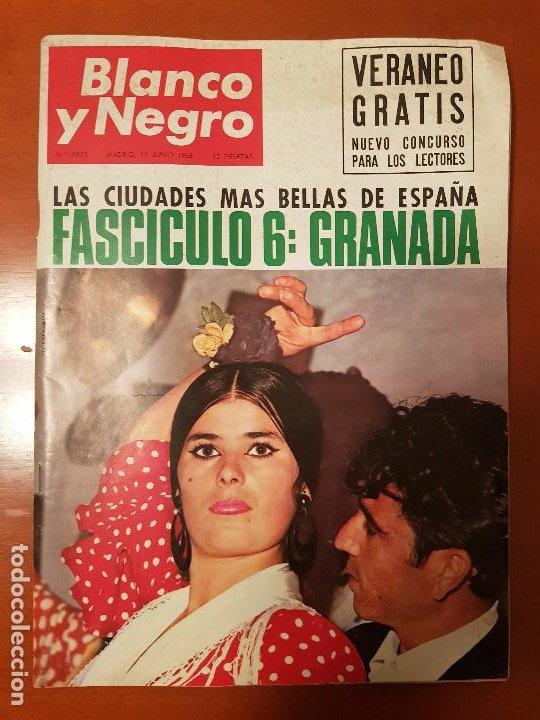 BLANCO Y NEGRO REVISTA Nº 2823 MADRID, 11 DE JUNIO 1966_500 MILLAS INDIANAPOLIS. UGANDA. GRANADA. (Coleccionismo - Revistas y Periódicos Modernos (a partir de 1.940) - Blanco y Negro)
