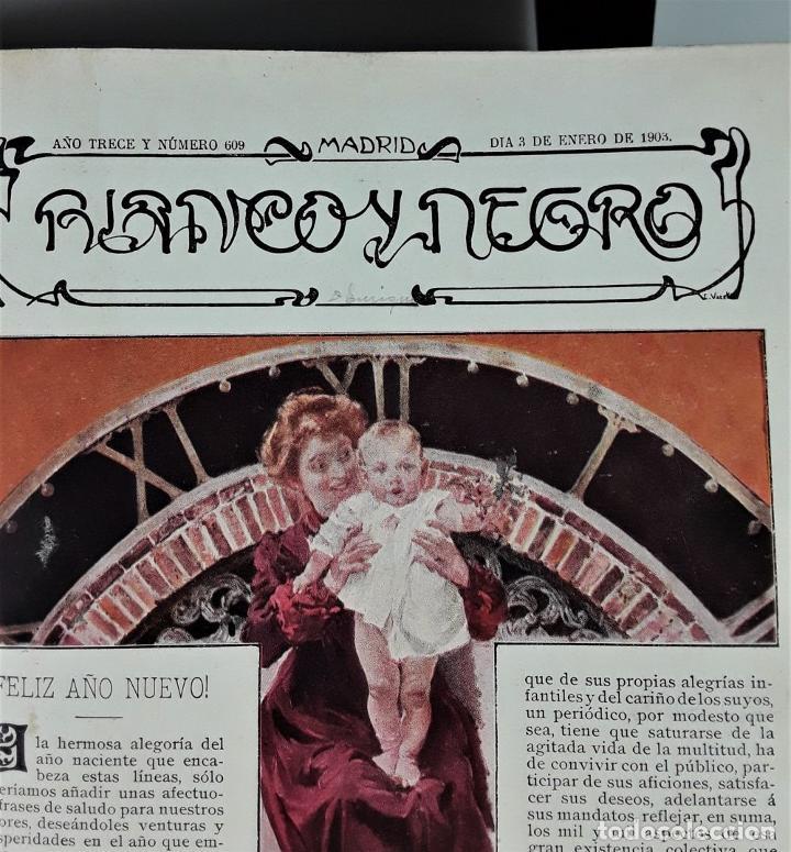Coleccionismo de Revista Blanco y Negro: REVISTA SEMANAL. BLANCO Y NEGRO. AÑO TRECE. MADRID. 1903. - Foto 9 - 166505750
