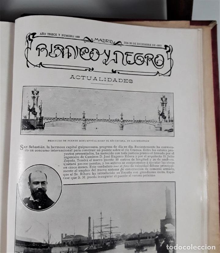 Coleccionismo de Revista Blanco y Negro: REVISTA SEMANAL. BLANCO Y NEGRO. AÑO TRECE. MADRID. 1903. - Foto 10 - 166505750