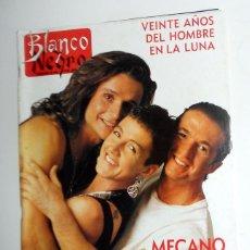 Coleccionismo de Revista Blanco y Negro: REVISTA BLANCO Y NEGRO ABC JULIO AÑO 1989. MECANO ANA TORROJA - BERTIN OSBORNE - LITRI. ANTIGUA. Lote 195139075