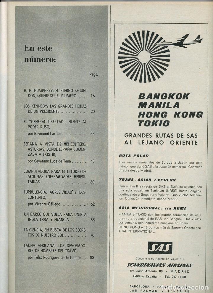 Coleccionismo de Revista Blanco y Negro: Blanco y negro Nº 2936 Madrid 10 agosto 1968 Los Kennedy (3ª parte). Asturias a vista de helicóptero - Foto 2 - 195311777