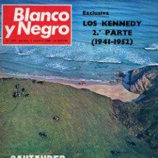 Coleccionismo de Revista Blanco y Negro: BLANCO Y NEGRO Nº 2935 MADRID 3 AGOSTO 1968 LOS KENNEDY 2ª PARTE. SANTANDER A VISTA DE HELICÓPTERO. Lote 195312302