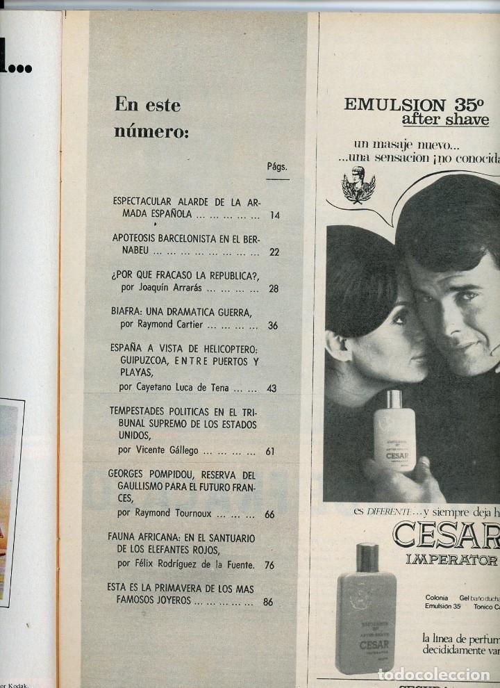 Coleccionismo de Revista Blanco y Negro: Blanco y Negro Nº 2933 20 julio 1968 Semana Naval de Santander. Guipuzcoa a vista de helicóptero - Foto 3 - 195313606