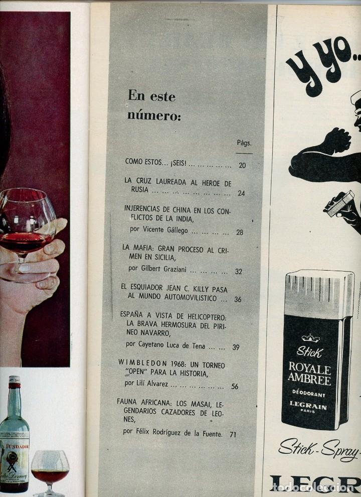 Coleccionismo de Revista Blanco y Negro: Blanco y Negro Nº 2932 13 julio 1968 La brava hermosura del Pirineo Navarro. España Helicóptero - Foto 2 - 195314420