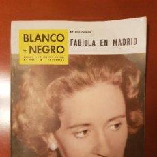 Coleccionismo de Revista Blanco y Negro: BLANCO Y NEGRO REVISTA Nº 2528 MADRID, 15 DE OCTUBRE 1960_FABIOLA EN MADRID. FIESTAS DE CIUDAD RODRI. Lote 195427723