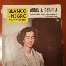Coleccionismo de Revista Blanco y Negro: BLANCO Y NEGRO REVISTA Nº 2535 MADRID, 3 DE DICIEMBRE 1960_VIAJE DE FABIOLA, REGALOS Y ULTIMOS PREPA. Lote 195429122