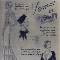 Coleccionismo de Revista Blanco y Negro: REVISTA BLANCO Y NEGRO-HOJA MODA AÑOS 30. Lote 195776170