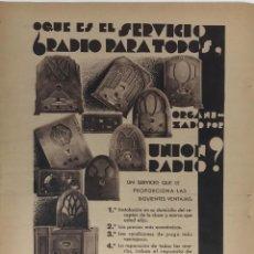 Coleccionismo de Revista Blanco y Negro: REVISTA BLANCO Y NEGRO-HOJA MODA AÑOS 30. Lote 195885761