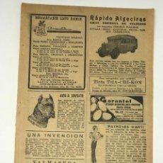 Coleccionismo de Revista Blanco y Negro: REVISTA BLANCO Y NEGRO-HOJA MODA AÑOS 30. Lote 195886153