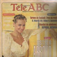 Collectionnisme de Magazine Blanco y Negro: TELE ABC. Nº 65. EN PORTADA: ESTHER ARROYO,/ DAVID SANTISTEBAN. 6 AGOSTO 1995(ST/MG/A). Lote 202493362