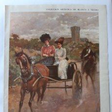 Colecionismo de Revistas Preto e Branco: COLECCIÓN ARTÍSTICA BLANCO Y NEGRO. PORTADA POR ENRIQUE ESTEVAN / PUBLICIDAD CALISAY.. Lote 202754910