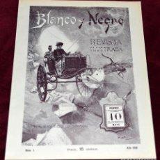 Coleccionismo de Revista Blanco y Negro: REPRODUCCIÓN REVISTA BLANCO Y NEGRO Nº1, AÑO 1891.. Lote 205087557