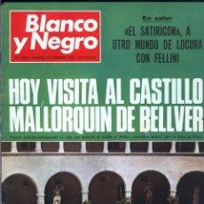 Coleccionismo de Revista Blanco y Negro: BLANCO Y NEGRO 2963 CASTILLO DE BELLVER FELLINI OLIVER TWIST NIXON JOHNSON IRAQ MAXIM'S - VER FOTOS. Lote 206884630