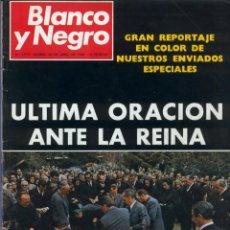 Coleccionismo de Revista Blanco y Negro: BLANCO Y NEGRO 2973 - REINA VICTORIA EUGENIA CLAUDIA CARDINALE DE GAULLE CURRO ROMERO - VER FOTOS. Lote 206893877