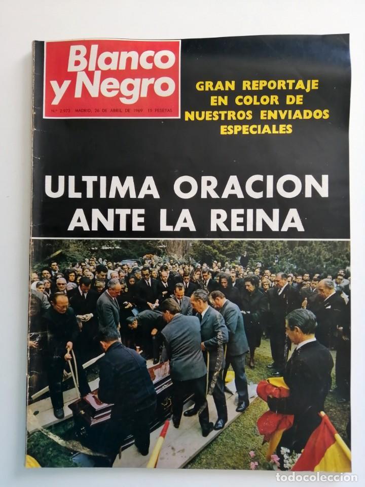 Coleccionismo de Revista Blanco y Negro: Blanco y Negro 2973 - Reina Victoria Eugenia Claudia Cardinale de Gaulle Curro Romero - VER FOTOS - Foto 2 - 206893877