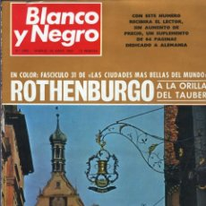 Coleccionismo de Revista Blanco y Negro: BLANCO Y NEGRO 2982 - ROTHENBURGO APOLO 10 LOS KENNEDY - VER FOTOS. Lote 206908547