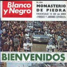 Coleccionismo de Revista Blanco y Negro: BLANCO Y NEGRO 2998 - MONASTERIO DE PIEDRA APOLO 11 FRANCO JOSEPH LOSEY EDDY MERCKK - VER FOTOS. Lote 206925472