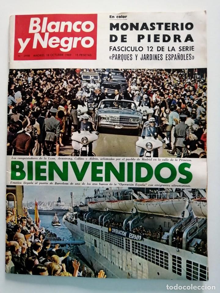Coleccionismo de Revista Blanco y Negro: Blanco y Negro 2998 - Monasterio de Piedra Apolo 11 Franco Joseph Losey Eddy Merckk - VER FOTOS - Foto 2 - 206925472