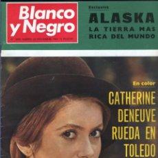 Coleccionismo de Revista Blanco y Negro: BLANCO Y NEGRO 3003-CATHERINE DENEUVE BUÑUEL EL BOSCO APOLO XII SHARON TATE CHARLES MANSON-VER FOTOS. Lote 206930107