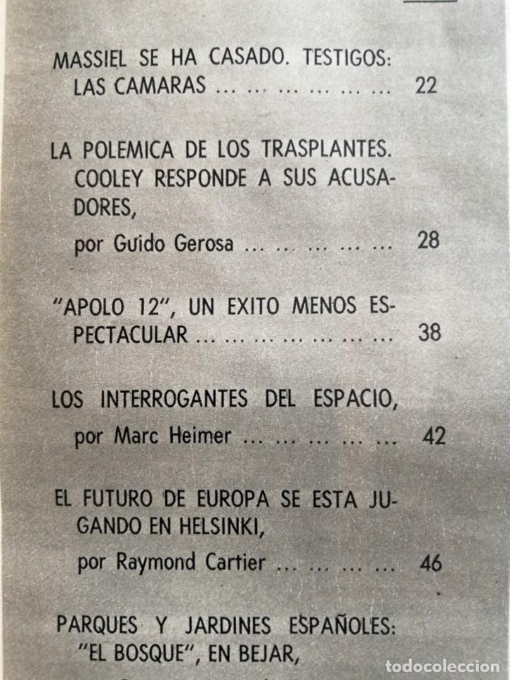 Coleccionismo de Revista Blanco y Negro: Blanco y Negro 3004 - Apolo XII Massiel Denton Cooley Joe Kennedy Jerusalen Bejar - VER FOTOS - Foto 7 - 206931473