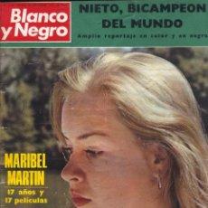 Colecionismo de Revistas Preto e Branco: BLANCO Y NEGRO 3152 - MARIBEL MARTÍN ANGEL NIETO SAINT-GERMAIN LEILA KHALED PALESTINA PABLO VI. Lote 213477166